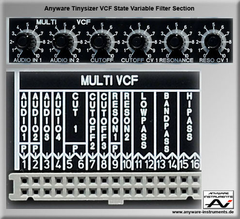TINYSIZER -  voltage controlled filter VCF analog modular synthesizer module