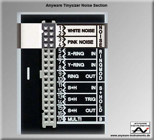 TINYSIZER - white noise and pink noise generator analog modular synthesizer module