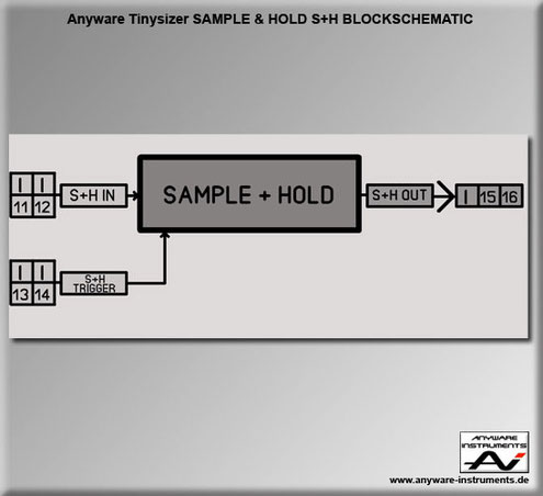 TINYSIZER -  sample and hold analog modular synthesizer module - Block
