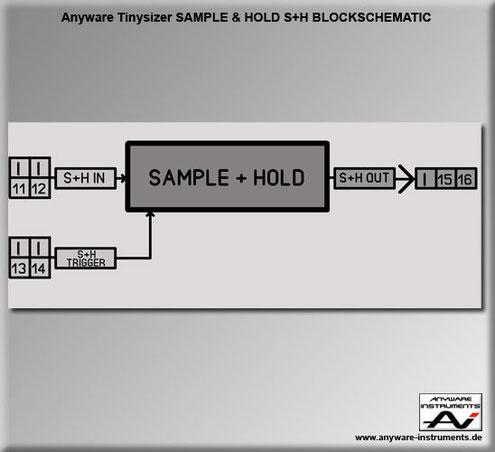 TINYSIZER -  sample and hold analog modular synthesizer module - Block