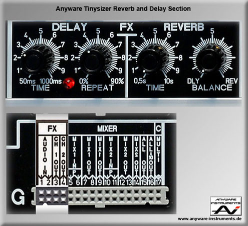 TINYSIZER - DSP reverb delay analog modular synthesizer module