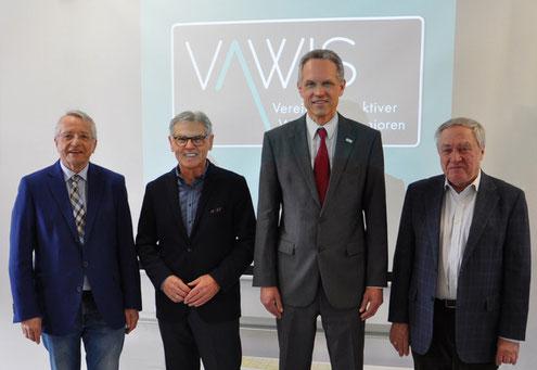 vlnr: Adolf Rausch, Reinhard Huber, Herbert Fuchs, Manfred Muchar