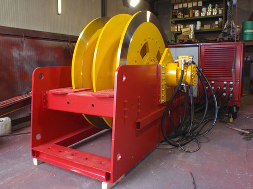 Industrielle Seilwinde mit 15 Tonnen Zugkraft z.B. für den Tunnelbau