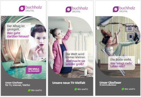 Corporate Design für Flyer zur Bewerbung von Glasfaseranschluss