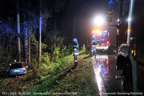 Feuerwehr; Blaulicht; FF Steinberg-Rohrbach; Unfall; Brandverdacht; Ereignisreiches Wochenende;