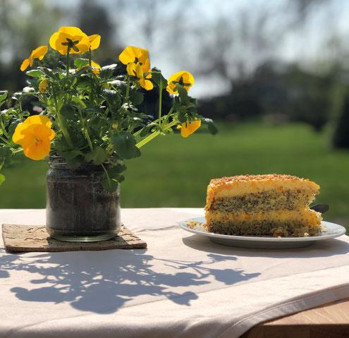 Mohnkuchen im Yardcafe