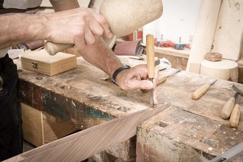 Stehleuchte Holz, Nussbaum, Handwerkskunst, Design,