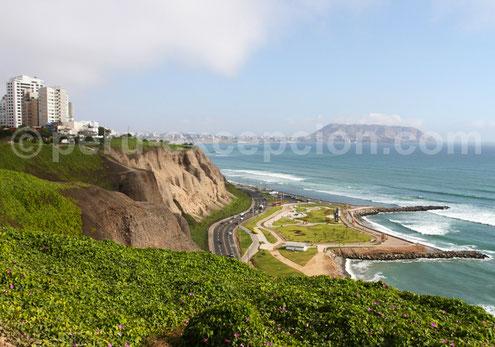Costa verde  Miraflorères Pérou