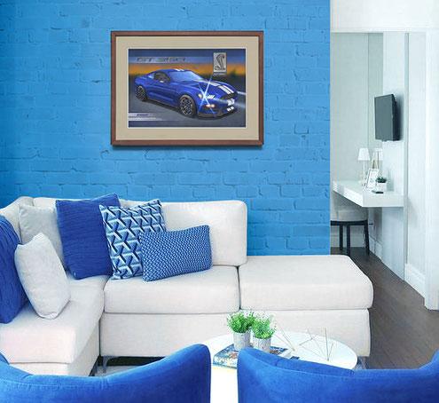 Une oeuvre accrochée au mur est toujours plus intéressante quand elle est encadrée. Plusieurs options sont possible dépendant des tonalités de l'image et de la couleur du mur à décorer. Vous verrez quelques exemples dans cet article.