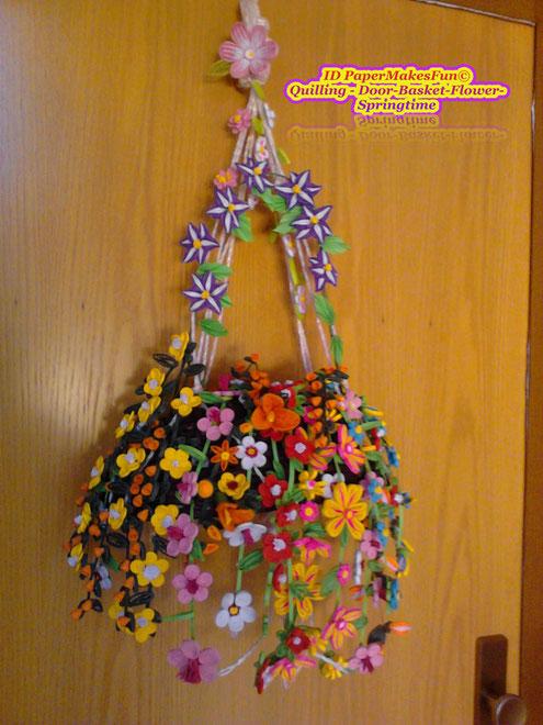 Quilling - Flower - Basket - Springtime