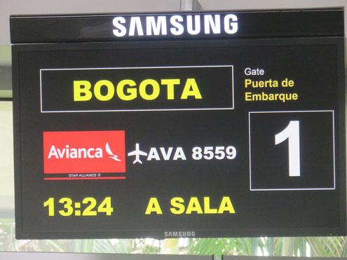 Fliegen innerhalb Kolumbiens ist recht günstig
