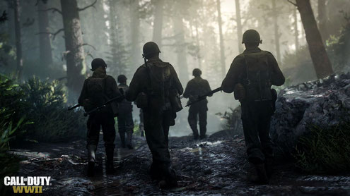 Die Erste US-Infanteriedivision aus Call of Duty WW2. Bilderquelle: Activision