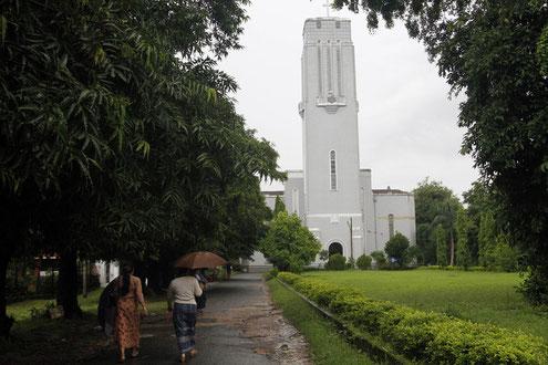 Die Judson Church auf dem Geländer der Universität Yangon