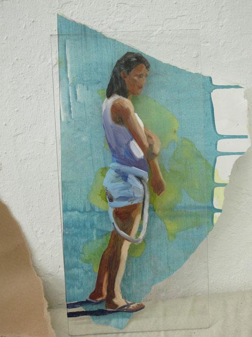 Heike Ludewig blau, painting, gemälde