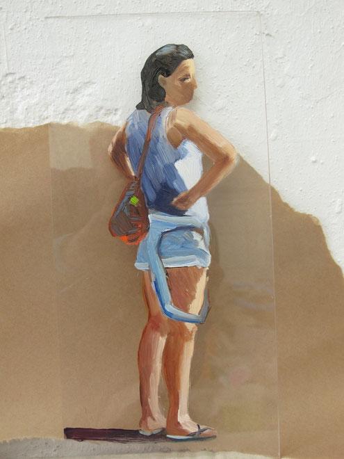 Heike Ludewig, painting, gemälde, Frau