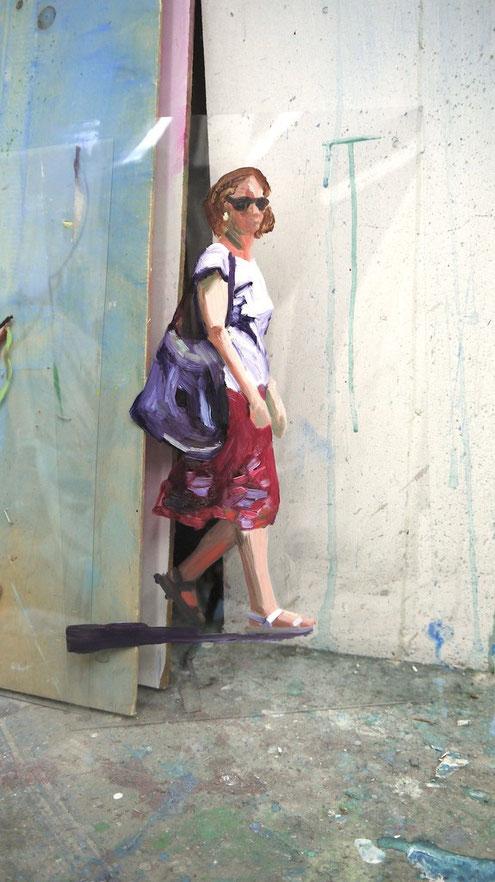 Heike Ludewig roter Rock Gemälde, painting