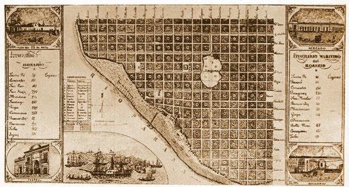 Mapa de Rosario de 1858
