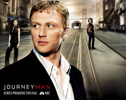 Image of NBC poster for the 1997 series Journeyman, with picture of lead Kevin McKidd.
