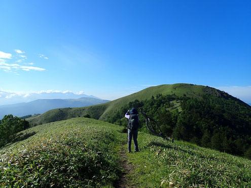 三峰山と八ヶ岳