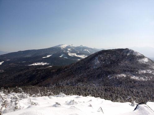 縞枯山展望台より南八ヶ岳方面