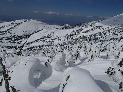 樹氷群と前嶽