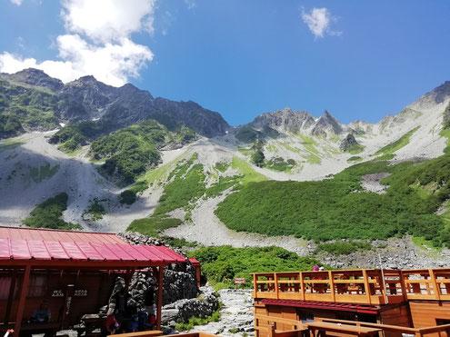 涸沢から奥穂高岳方面
