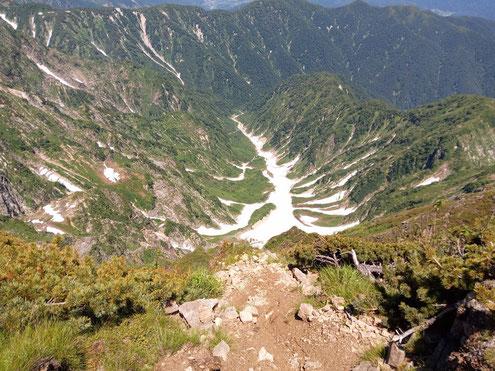 カクネ里雪渓(氷河)