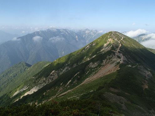 爺ヶ岳南峰と針ノ木蓮華