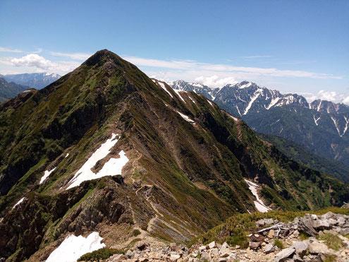 鹿島槍ヶ岳南峰と剱岳