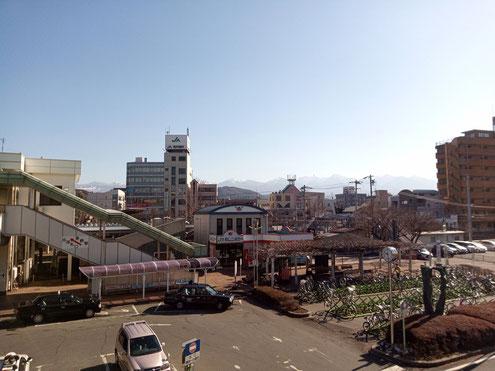 茅野駅から八ヶ岳連峰