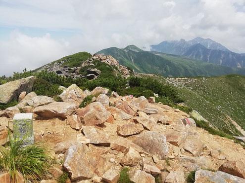 越中沢岳より五色ヶ原方面