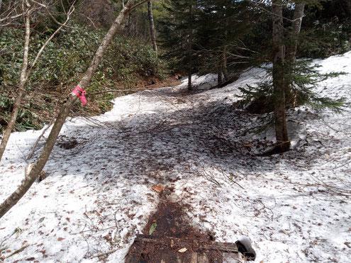 白砂峠の残雪