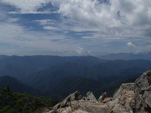 禿岩からの展望