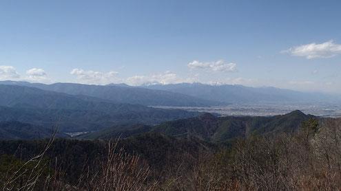 霧訪山から北西側