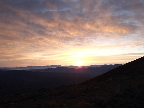 ヒュッテ前より八ヶ岳南アルプス方面