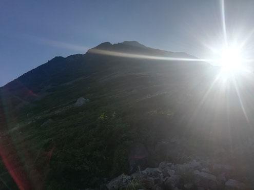 獅子岳の登り