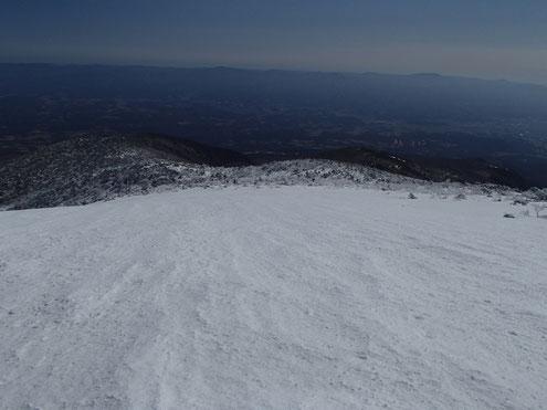 山頂近くから二本松方面