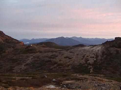 ヒュッテ前から北アルプス方面