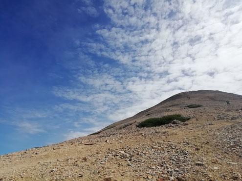 薬師岳への登路