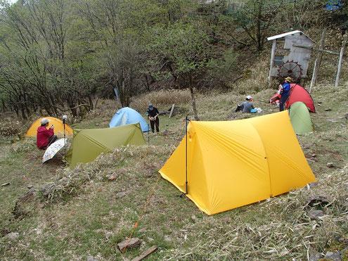 将監小屋のテント場