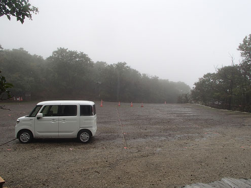 樽前山七合目の駐車場