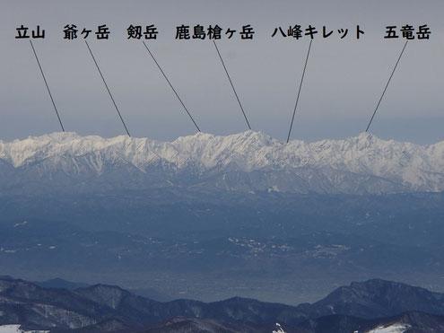 後立山連峰(山名入り)