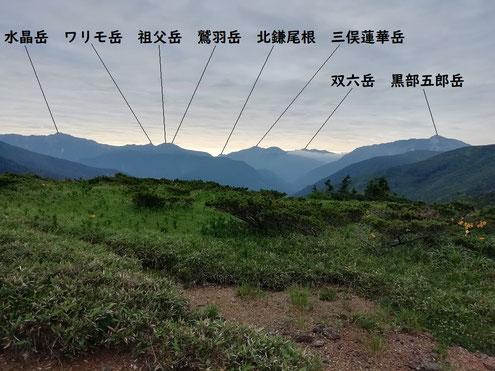 太郎平から見える山々
