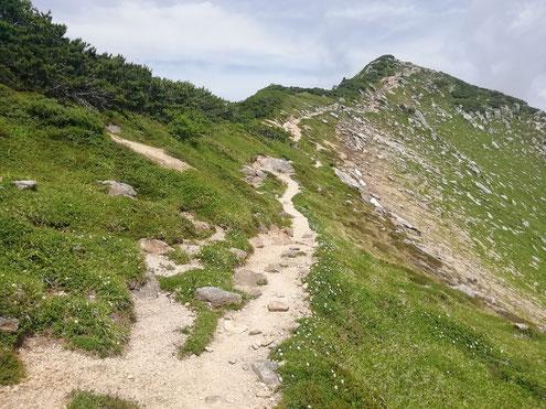 越中沢岳まであと少し