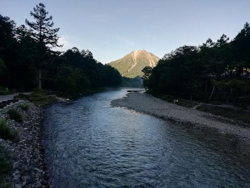 河童橋から焼岳