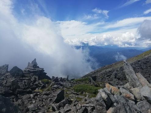 針の山から乗鞍岳
