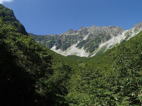 Sガレから奥穂高岳
