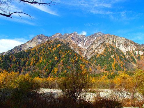 徳沢より前穂高岳