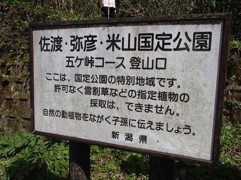 五ケ峠登山口