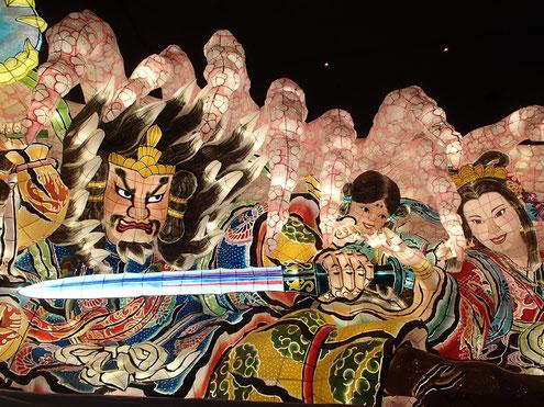 NTTグループねぶた 「瓊瓊杵尊と木花咲耶姫」